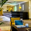 Reception area. Interior photography for Holiday Inn. Wembley